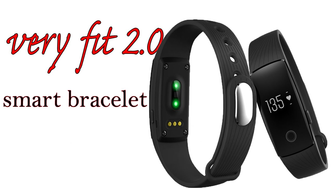 Very Fit 2 0 Smart Band Fitness Tracker Id107 Review Youtube