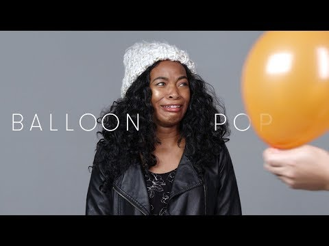 100 People React to a Balloon Pop
