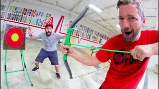 GAME OF BOW & ARROW ! / Epic Trick Shots!