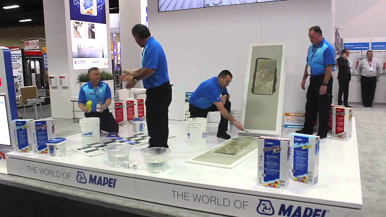 Mapei introduces new large- and heavy-tile (LHT) mortars at TISE West