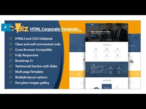 C biz corporate business template themeforest templates youtube c biz corporate business template themeforest templates html website templates accmission Choice Image