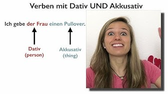 Verbs with Accusative AND Dative in German