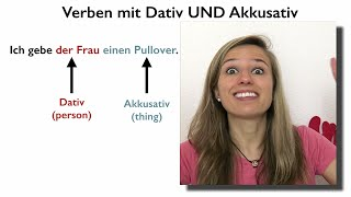 GERMAN CASES: Verbs with Accusative AND Dative