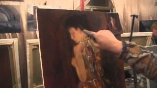 Пишем портрет в полоборота  Полный урок Игоря Сахарова