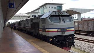 2020.1.5(日)15:08 マレー鉄道 JBセントラル行き急行43列車【グマス(Gemas)駅】