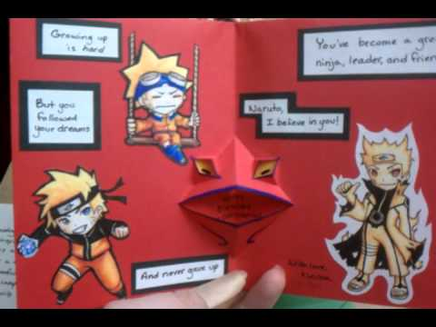 CR Contest Naruto Birthday Card YouTube