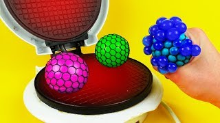 What if to Drop TOYS SLIME ANTISTRESS into Waffle Maker
