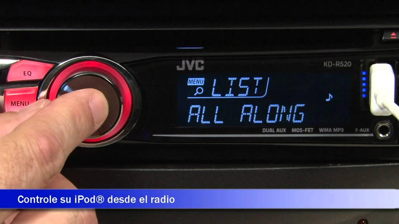 jvc kdr 520 recibidor y adaptador de bluetooth demostraci n de rh youtube com  jvc kd r520 user manual