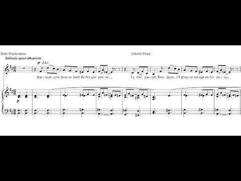 Au bord de l'eau - Fauré -  accompaniment in B minor