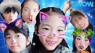 Kan & Aki SNOWアプリであそんだよ♪ thumbnail