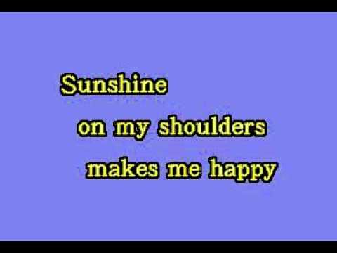 DK050 10   Denver, John   Sunshine On My Shoulders [karaoke]