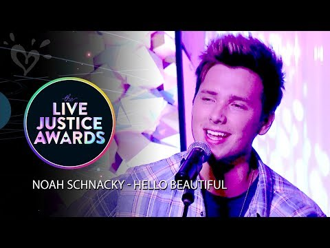 NOAH SCHNACKY - HELLO BEAUTIFUL 💗 LIVE JUSTICE AWARDS