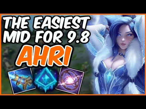 EASIEST MID PICK FOR 9.8 - Glacial Augment Ahri - Challenger Ahri - League of Legends