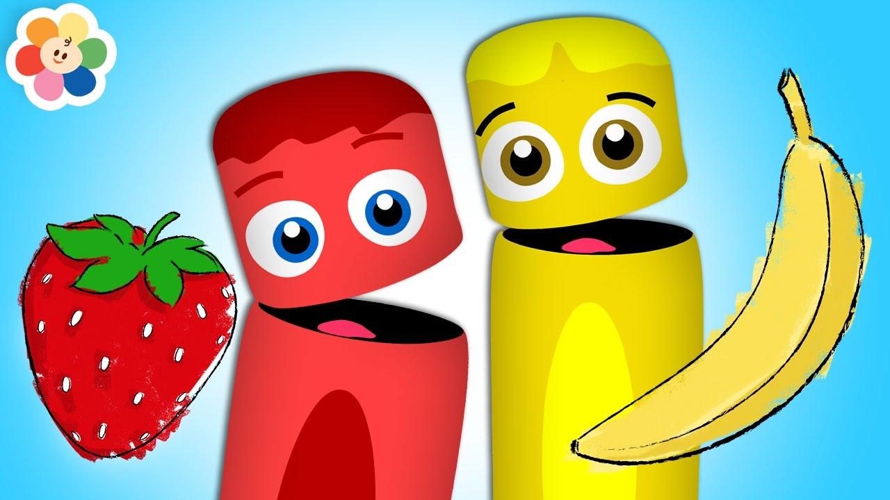 Colorea Las Frutas Aprende Los Colores Infantiles Pandilla De
