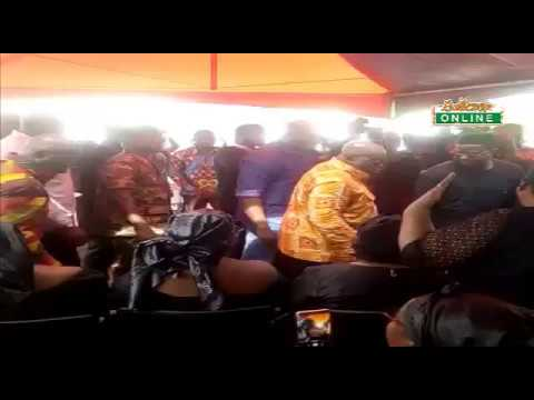Akufo Addo arrives at residence of late Ayawaso West Wuogon MP