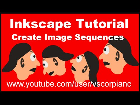 Inkscape Tutorial - How to Make Image Sequences for 2D Animations & GIF's by VscorpianC