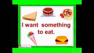 English for Kids Food – What do you want to eat