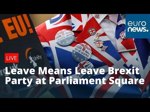 Leave Means Leave Brexit Party at Parliament Square