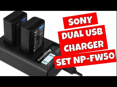 PowerEXTRA USB Dual Charger For Sony NP FW50 Batteries