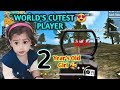 INDIA'S SMALLEST FREE FIRE PLAYER PANKHURI WHEN 2 YEAR S OLD CUTE GIRL PLAY S FREE FIRE
