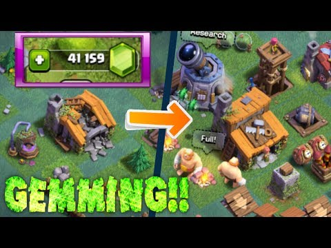 Thumbnail: GEMMING THE NEW BUILDER BASE IN CLASH OF CLANS! | NEW MAY 2017 UPDATE!! | GEMMING SPREE!!!