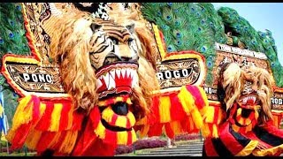 REOG PONOROGO Asli Warok Jathil DADAK MERAK Ganongan Javanese Huge MASK DANCE HD