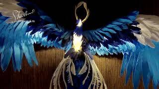 "Фоамиран"" Синяя птица (Светильник) Презентация МК фом-арт"