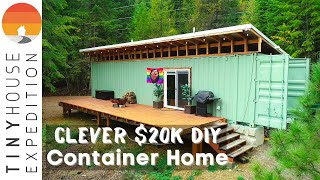 Couple Builds Clever $20k Shipping Container Home with NO Experience