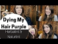 Trying to Dye My Hair Purple || Herbatint and Naturtint Review