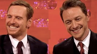Michael Fassbender & James McAvoy In Sexy Scenarios - The Graham Norton Show