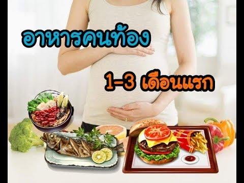 อาหารคนท้อง 1-3 เดือนแรก | ท้องไตรมาสแรก ควรกินอะไรดี
