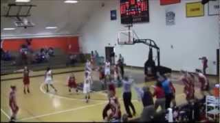 Olivet College Comets Buzzer Beater (two angles)
