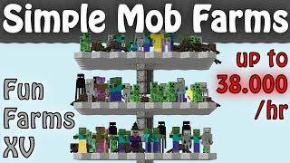 Simple Hostile Mob Farms, Minecraft 1.12 - 1.16+ (Fun Farms Ep. 15)