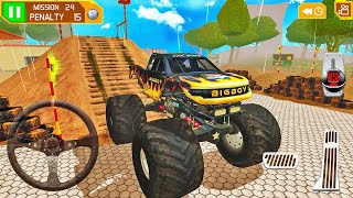 Big Foot Monster Truck Driving - 4x4 Offroad Stunt Track Mission - Android Gameplay