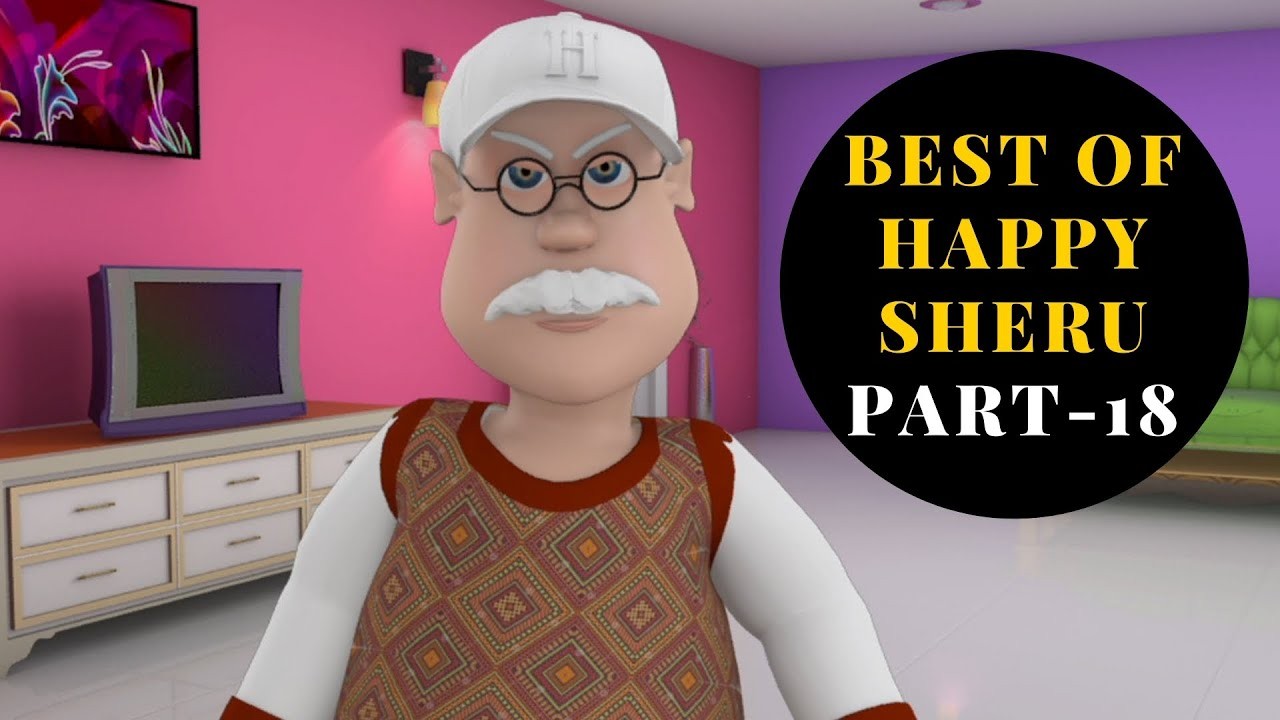 Download Best Of Happy Sheru || Part-18 || Funny Cartoon Animation || MH ONE