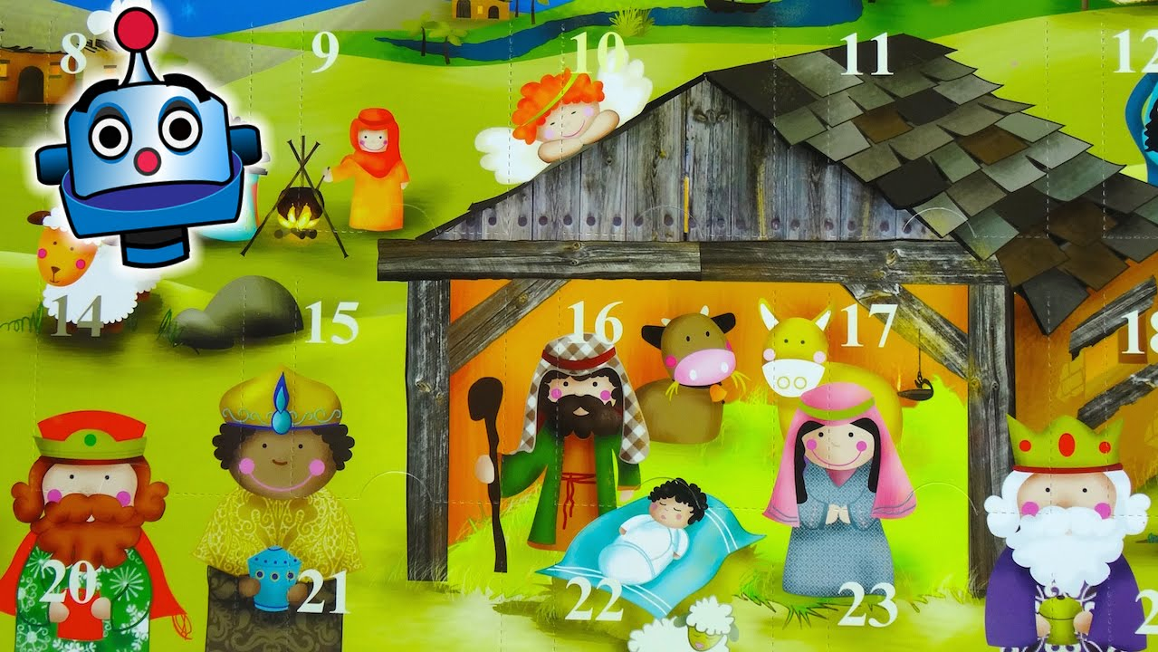 Belen Calendario.Magnetic Advent Calendar With Figurines To Make A Nativity