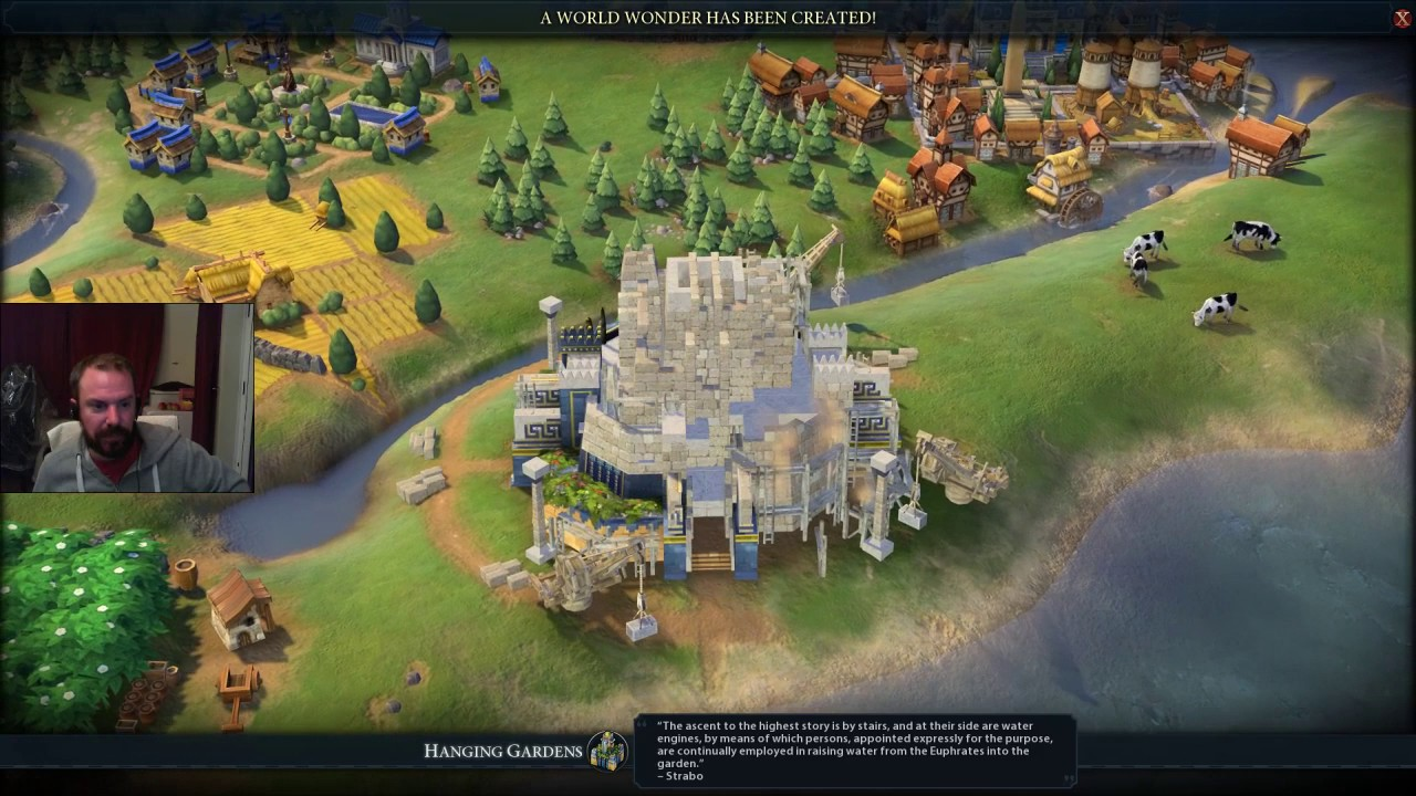 Civilization Vi 6 Giant Earth Map As England Youtube