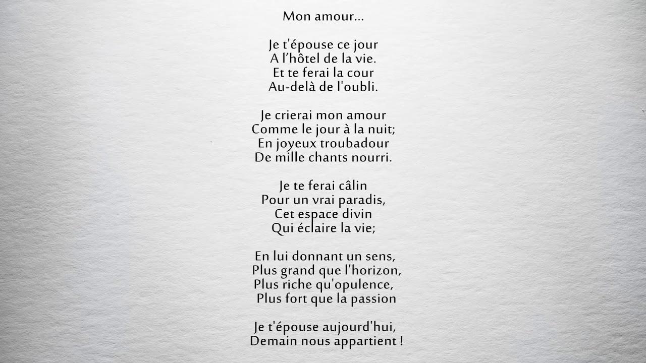 Poème Mon Amour Parfum Dhomme Philippe Blanc