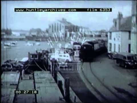 Weymouth Boat Train, 1940's - Film 6353