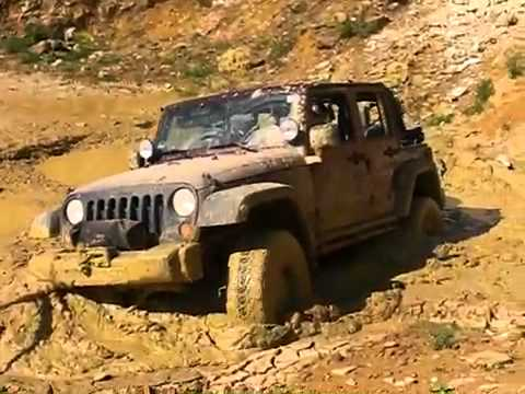 Jeep Wrangler Jk Unlimited Recovery Out Of Heavy Mud Youtube