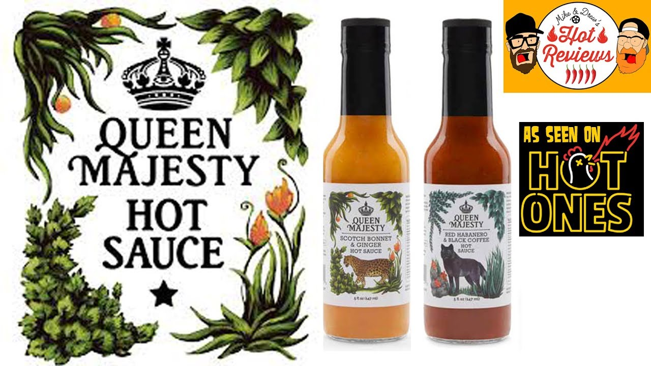 queen majesty hot sauce red habanero black coffee scotch bonnet ginger hot ones reviews. Black Bedroom Furniture Sets. Home Design Ideas