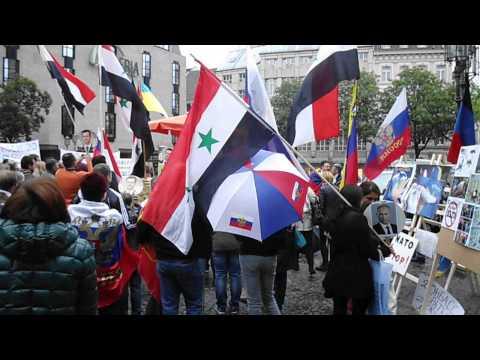 Demo gegen NATO und gegen die USA- Politik in Bonn