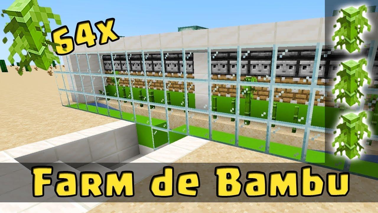 MINECRAFT: FARM INFINITA DE BAMBU (BAMBOO) - AUTOMÁTICA - FÁCIL E EFICIENTE!