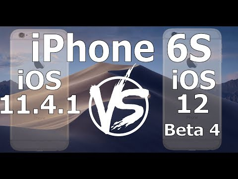 Speed Test : iPhone 6S - iOS 12 Beta 4 vs iOS 11.4.1 (iOS 12 Public Beta 3 Build 16A5327f)