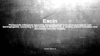 Medical vocabulary: What does Escin mean