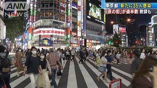 東京都で新たに35人感染 半数以上が「夜の街」(20/06/22)