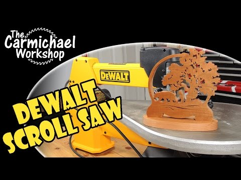 Dewalt DW788 Scroll Saw Unboxing and Bear Project