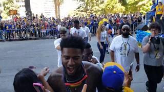 Jordan Bell lit at parade