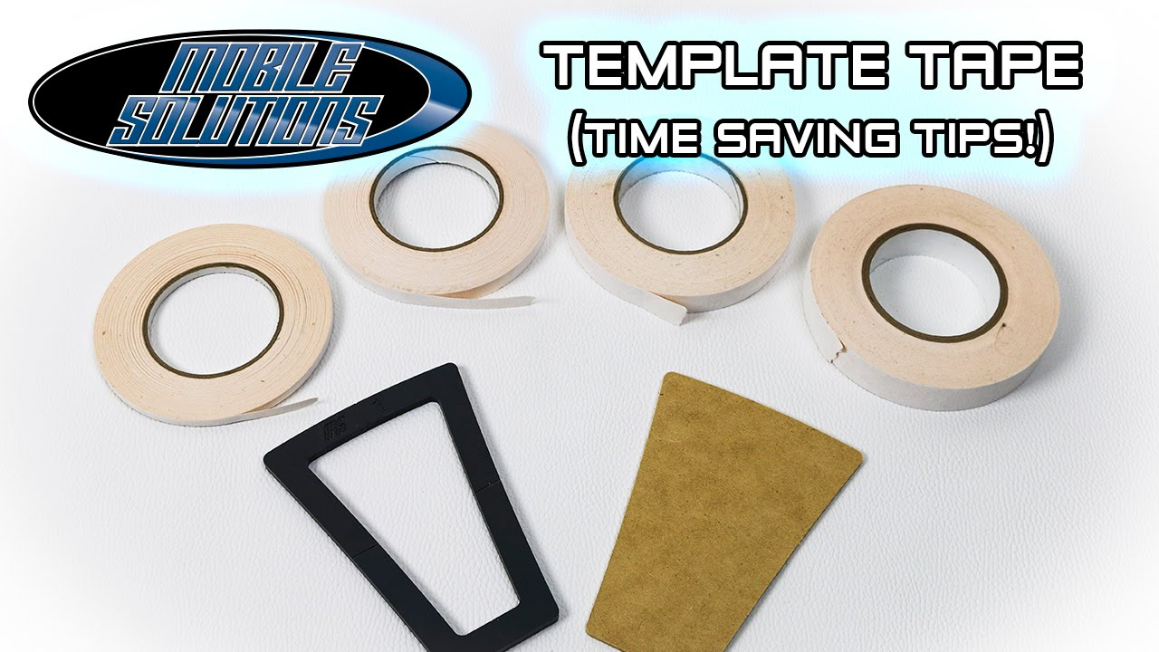 Time Saving Tips for Template Tape