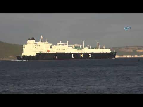 Çanakkale Boğazı'ndan Doğalgaz Tankeri Geçti